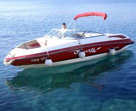 Sport boote Bryant 233 im Adriatische See