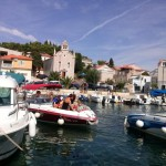 Sports boat trip in Croatia